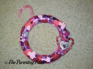 Finished Duct Tape Valentine's Day Wreath Craft