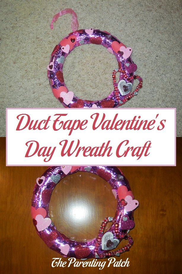 Duct Tape Valentine's Day Wreath Craft