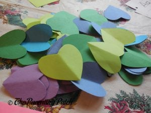 Hearts for Heart Peacock Valentine's Day Craft