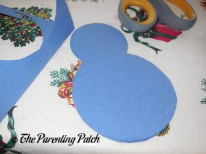 Peacock Body for Heart Peacock Valentine's Day Craft