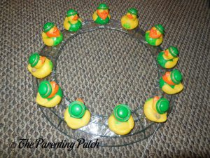 Large St. Patrick's Day Ducks on Wire Wreath