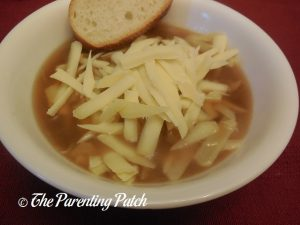 Finished Slow Cooker French Onion Soup