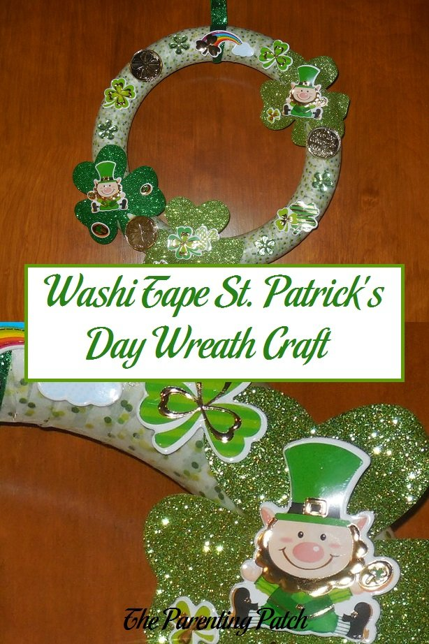 Washi Tape St. Patrick's Day Wreath Craft