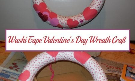 Washi Tape Valentine's Day Wreath Craft