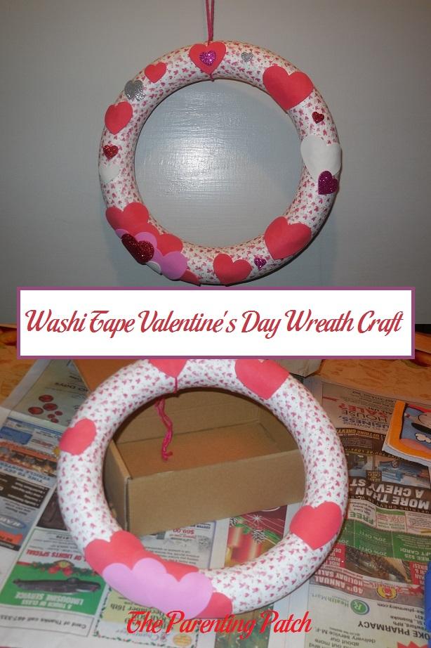 Washi Tape Valentine's Day Wreath Craft