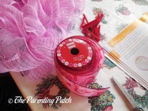 Valentine Ribbon for Deco Mesh Valentine's Day Wreath Craft