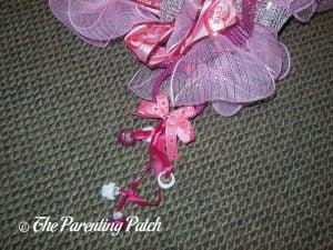 Valentine's Day Doorknob Hanger on Deco Mesh Valentine's Day Wreath Craft