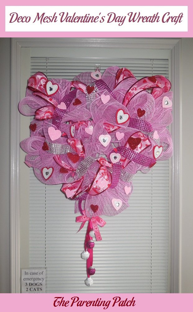Deco Mesh Valentine S Day Wreath Craft Parenting Patch