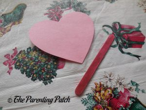 Heart for Love Bug Valentine's Day Craft