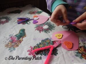 Decorating the Love Bug Valentine's Day Craft 2