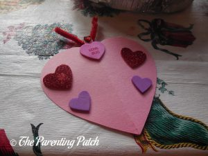 Decorating the Love Bug Valentine's Day Craft 3
