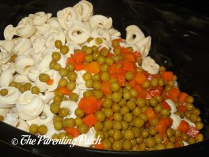 Peas and Diced Carrots for Chicken and Tortellini Soup