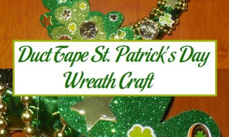 Duct Tape St. Patrick's Day Wreath Craft