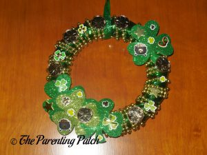 Finished Duct Tape St. Patrick's Day Wreath Craft