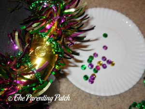 Beads for Gold Washi Tape Mardi Gras Wreath