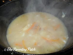 Cooking the White Bean and Gnocchi Soup