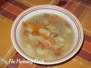 Bowl of White Bean and Gnocchi Soup
