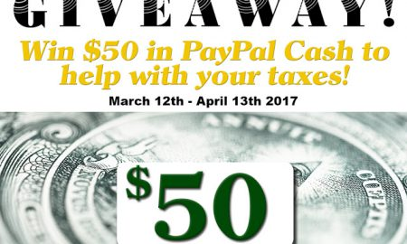 Tax Time Paypal Cash Giveaway