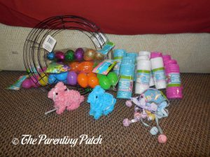 Materials for Deco Mesh Easter Wreaths