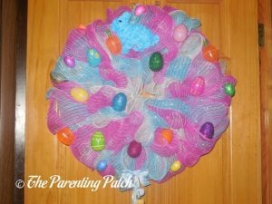 First Deco Mesh Easter Wreath