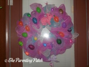 Second Deco Mesh Easter Wreath