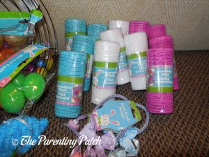 White, Blue, and Pink Deco Mesh for Deco Mesh Easter Wreaths