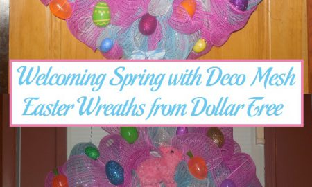 Welcoming Spring with Deco Mesh Easter Wreaths from Dollar Tree