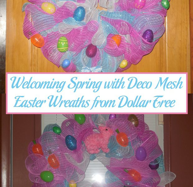 Dollar Tree Store Locator: Welcoming Spring With Deco Mesh Easter Wreaths From Dollar