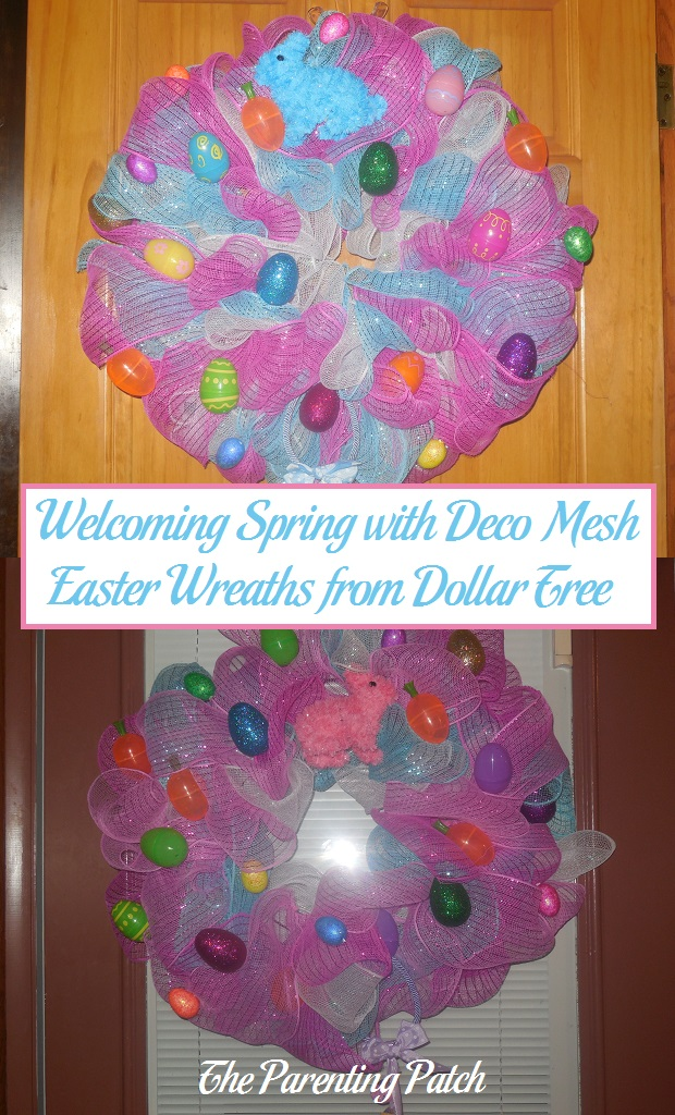 Welcoming Spring With Deco Mesh Easter Wreaths From Dollar