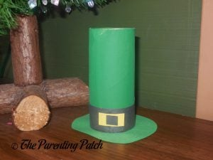 Finished Toilet Paper Roll Leprechaun Hat Craft