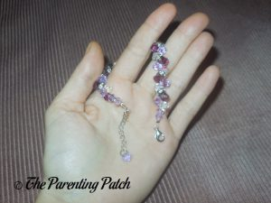 Clasp of the Jeulia Amazing Water Drop Created Amethyst Bracelet