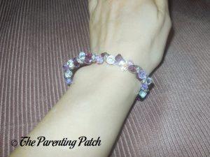 Wearing the Jeulia Amazing Water Drop Created Amethyst Bracelet on Wrist