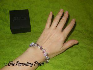 Jeulia Amazing Water Drop Created Amethyst Bracelet on Wrist