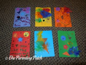 Six Cards from the Seedling Creative Cardmaking Kit
