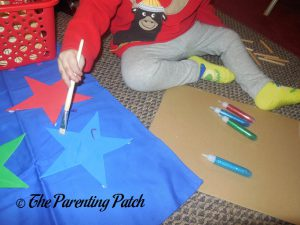 Spreading the Glitter Glue of the Seedling Design Your Own Superhero Cape