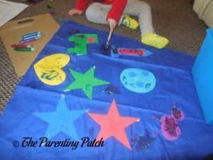 Spreading More Glitter Glue of the Seedling Design Your Own Superhero Cape