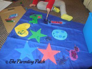 Spreading More Glitter Glue of the Seedling Design Your Own Superhero Cape