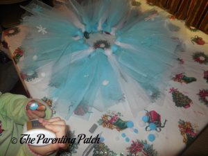 Adding Pompoms from Seedling Create Your Own Ice Princess Tutu