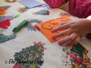 Using Glitter Glue from the Seedling Creative Cardmaking Kit