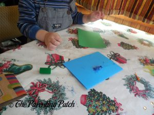 More Glitter Glue from the Seedling Creative Cardmaking Kit