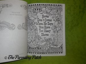 Page of Tingle Boots Coloring Book