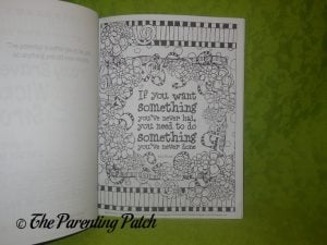 Page of Inspiration & Encouragement Coloring Book