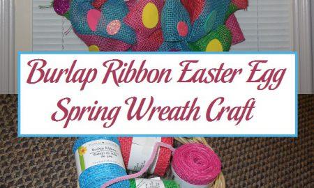 Burlap Ribbon Easter Egg Spring Wreath Craft