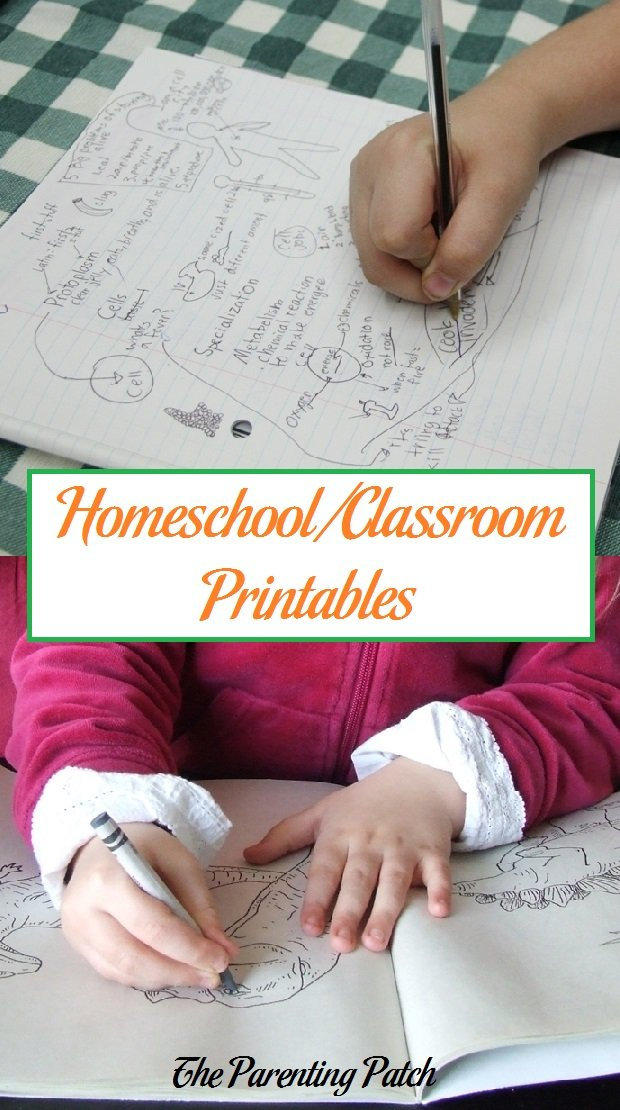 Homeschool/Classroom Printables