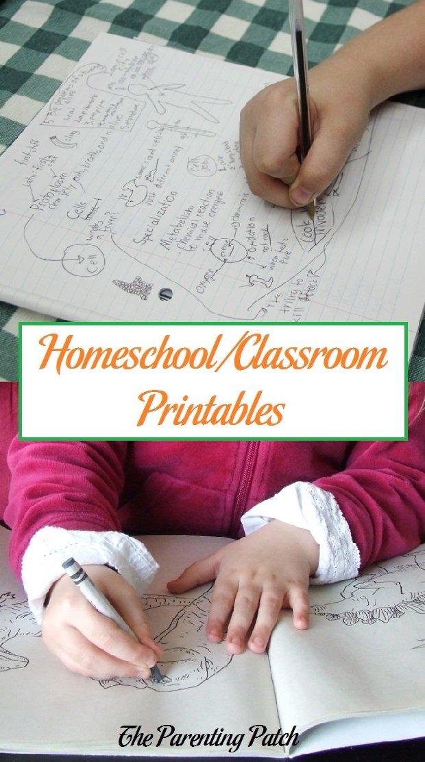 Homeschool/Classroom Printables