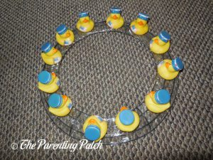 First Ring of Patriotic Ducks on Wire Wreath