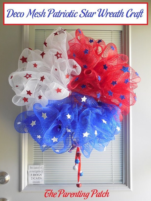 Deco Mesh Patriotic Star Wreath Craft