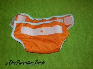 Waist of Hook-and-Loop ecoAble Cloth Diaper Cover