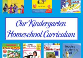 Our Kindergarten Homeschool Curriculum