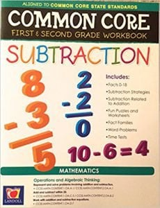 Common Core Subtraction First and Second Grade Workbook